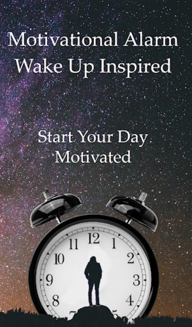 Motivational Alarm Clock - Wake Up Inspired screenshot 1