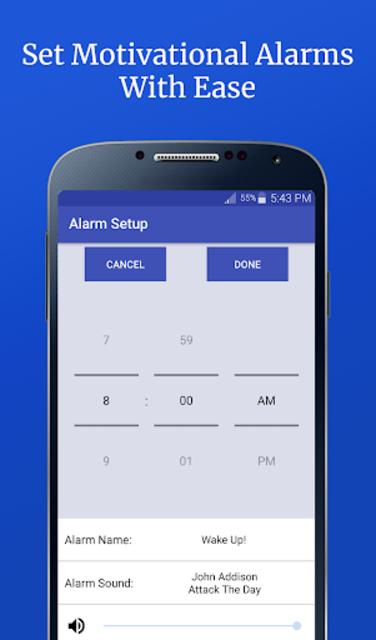 Motivational Alarm Clock - Wake Up Inspired screenshot 4