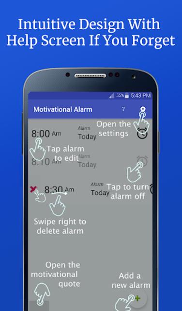 Motivational Alarm Clock - Wake Up Inspired screenshot 8