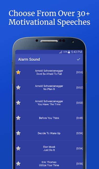 Motivational Alarm Clock - Wake Up Inspired screenshot 2