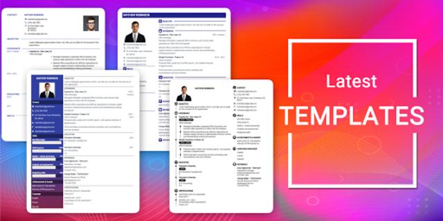 Resume Builder App Free CV maker CV templates 2019 screenshot 19