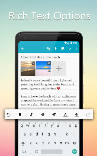 Diary Book - Journal With Lock, Photos, Cloud Sync screenshot 1