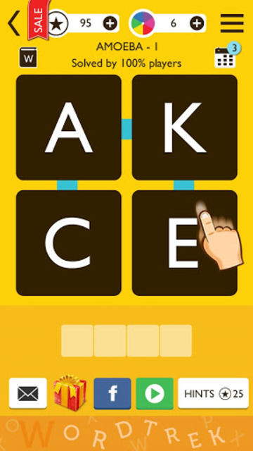 Word Trek - Word Brain streak - hand made puzzles screenshot 1