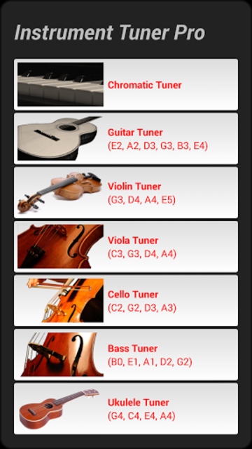 Instrument Tuner Pro screenshot 1
