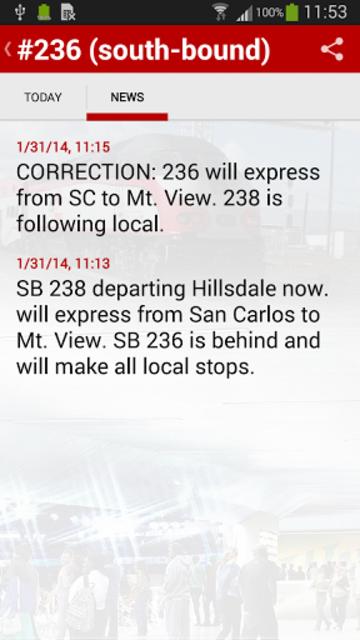 Caltrain screenshot 8