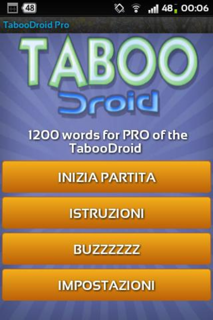 TabooDroid Pro screenshot 1