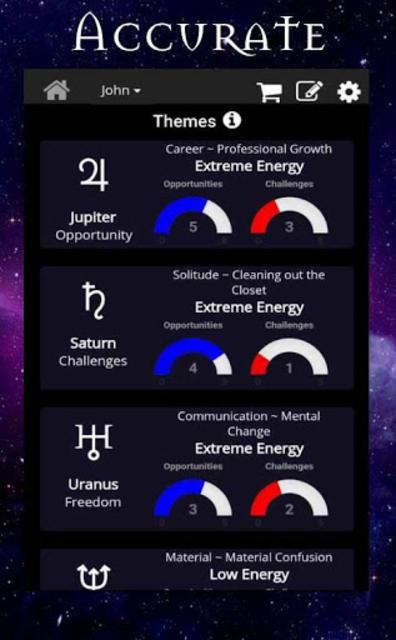 AstroMatrix Birth Chart Synastry Horoscopes screenshot 2