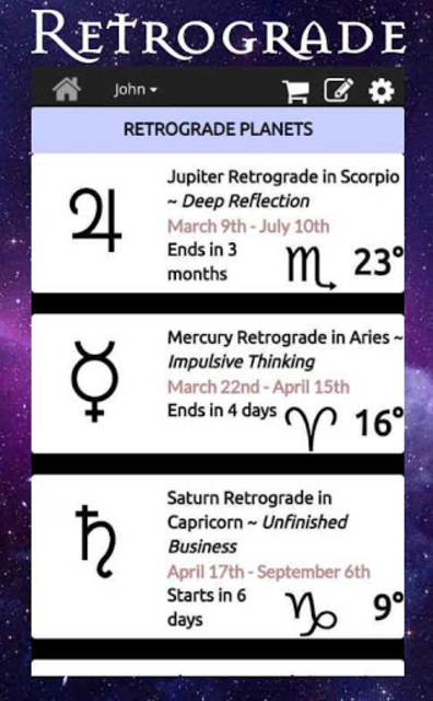 AstroMatrix Birth Chart Synastry Horoscopes screenshot 7