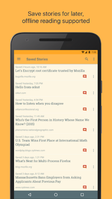 Materialistic - Hacker News screenshot 2
