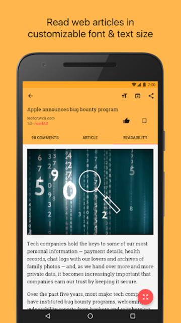 Materialistic - Hacker News screenshot 3