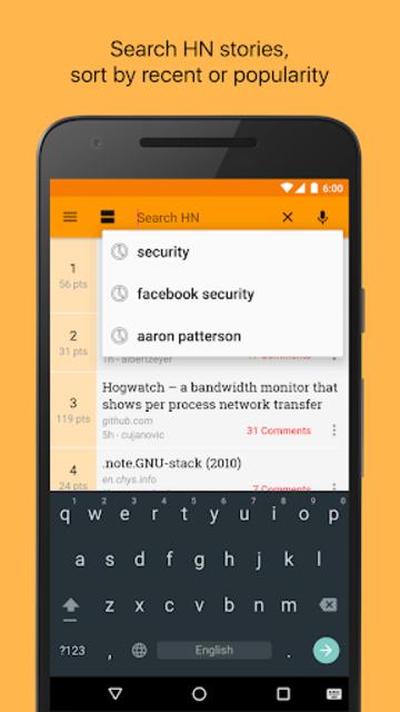 Materialistic - Hacker News screenshot 4