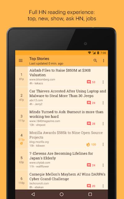 Materialistic - Hacker News screenshot 11