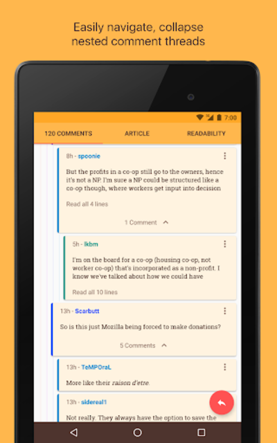 Materialistic - Hacker News screenshot 12