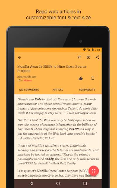 Materialistic - Hacker News screenshot 13