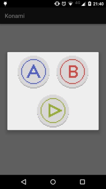 Konami Code Easter-Egg Example screenshot 2