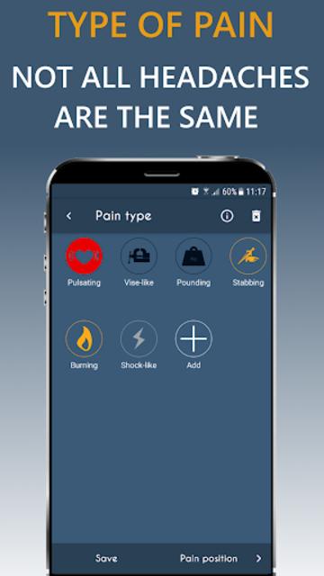 Migraine Headache Diary HeadApp screenshot 3