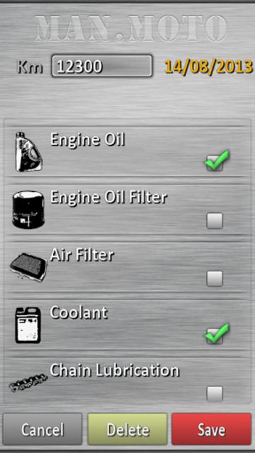 Motorcycle maintenance screenshot 11