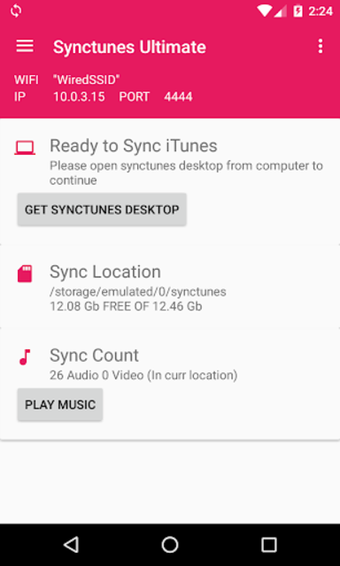Sync iTunes to android Free screenshot 1