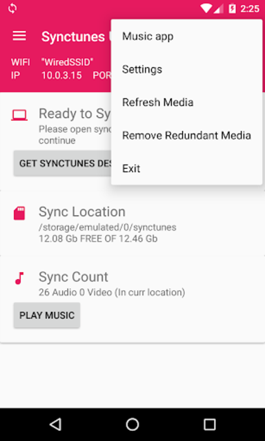 Sync iTunes to android Free screenshot 2