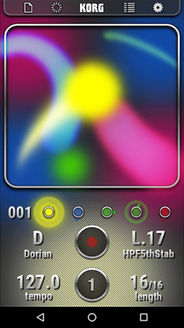 KORG Kaossilator for Android screenshot 2