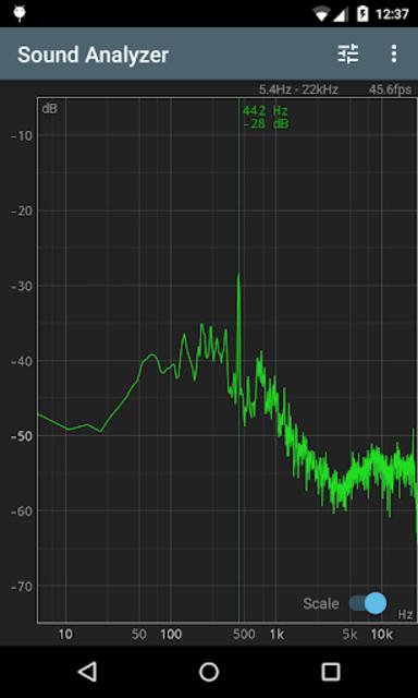 Sound Analyzer screenshot 1