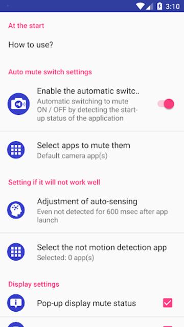 Camera Mute (Silent Mode/All Mute Mode) screenshot 2
