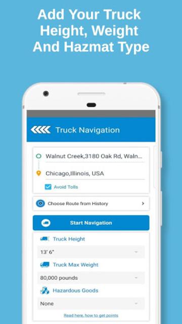 Truck Navigation, GPS - Road Hunter, Truck Stops screenshot 2