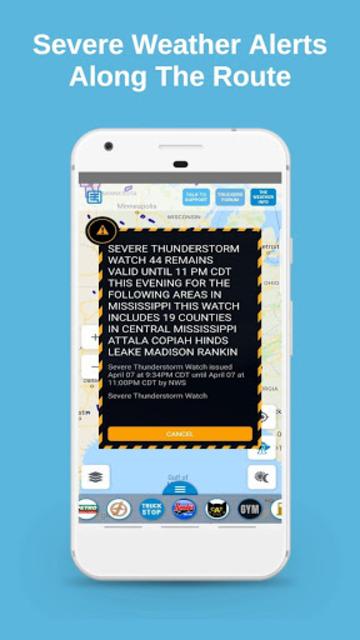 Truck Navigation, GPS - Road Hunter, Truck Stops screenshot 7
