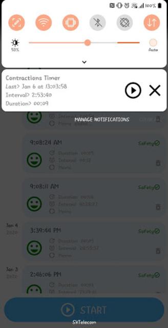 Contraction Timer for labor(Checker/Tracker) screenshot 4