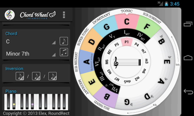 Chord Wheel : Circle of 5ths screenshot 6