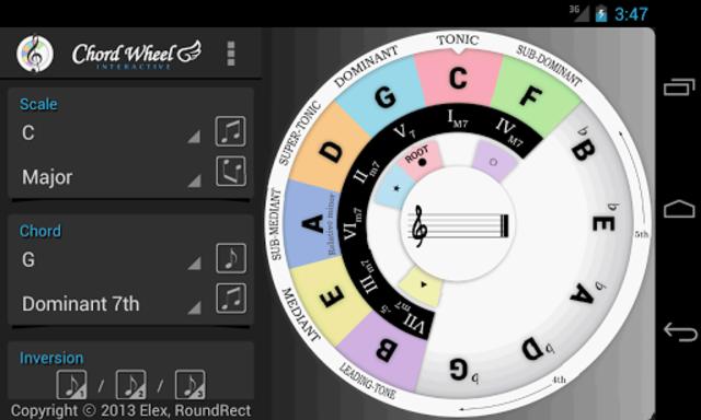 Chord Wheel : Circle of 5ths screenshot 7
