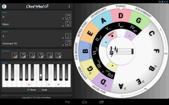 Chord Wheel : Circle of 5ths screenshot 8