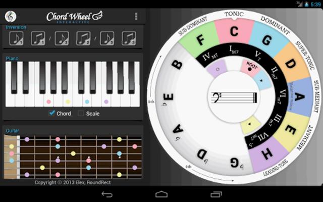 Chord Wheel : Circle of 5ths screenshot 10