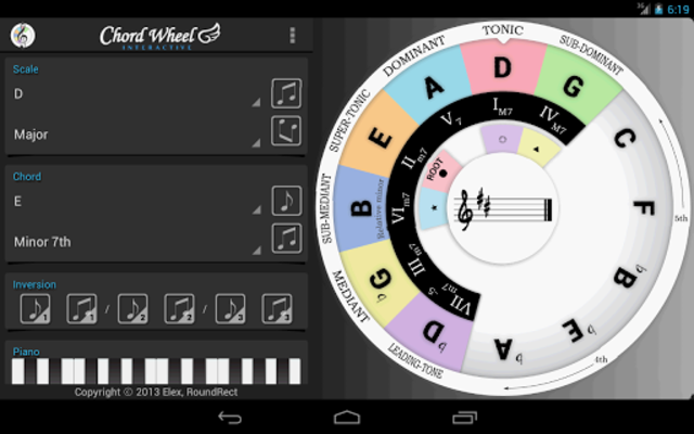 Chord Wheel : Circle of 5ths screenshot 11