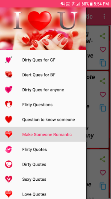 Dirty Questions to ask your love screenshot 1