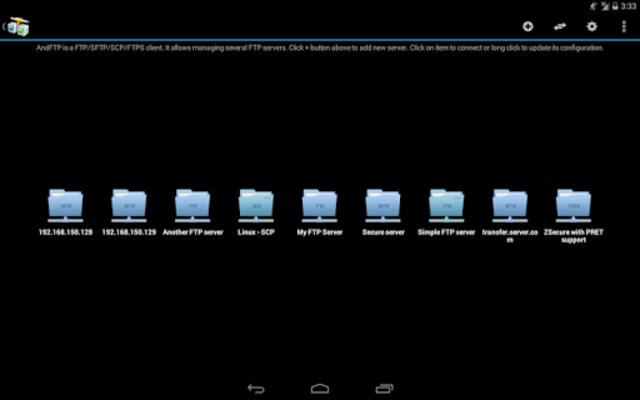 AndFTP (your FTP client) screenshot 8