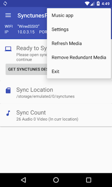Sync iTunes to android - Free screenshot 3