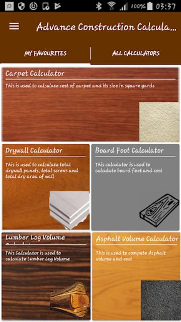Advance Construction Calculators Pro screenshot 1