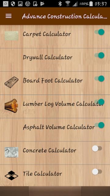 Advance Construction Calculators Pro screenshot 4