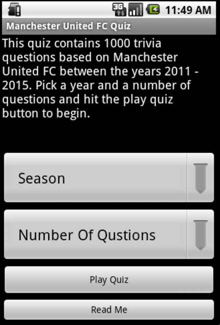 Quiz about Manchester United screenshot 1