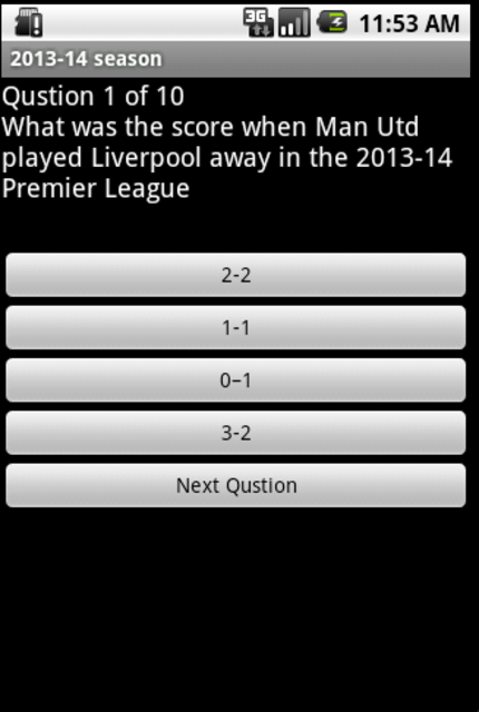 Quiz about Manchester United screenshot 2