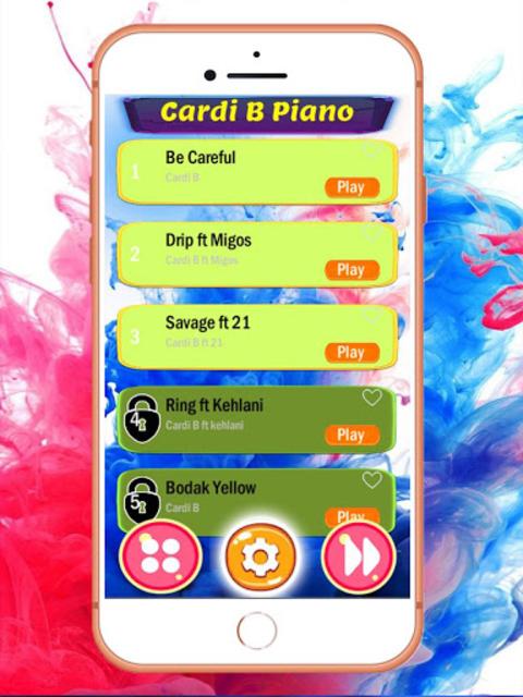 Best CARDI B Tap Tiles Piano screenshot 1