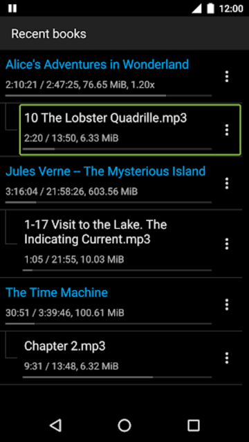 Simple Audiobook Player screenshot 5