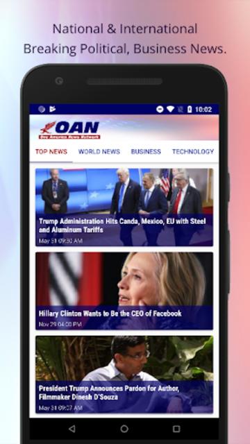 OANN: Live Breaking News screenshot 1