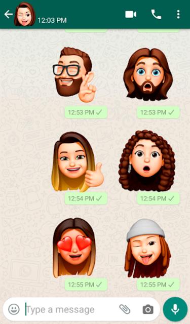 Memoji Apple Stickers for Android WhatsApp screenshot 1