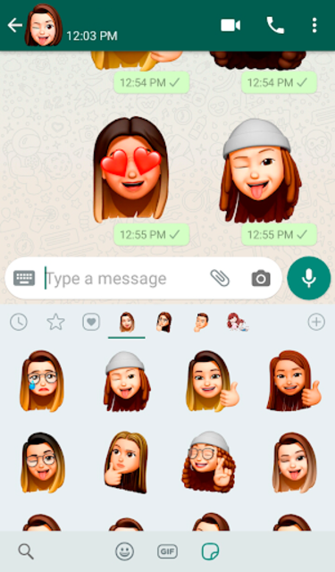 Memoji Apple Stickers for Android WhatsApp screenshot 2