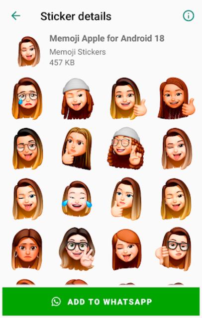 Memoji Apple Stickers for Android WhatsApp screenshot 3