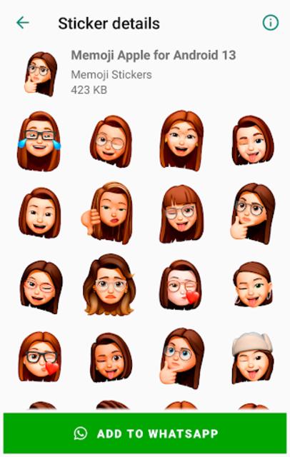 Memoji Apple Stickers for Android WhatsApp screenshot 4