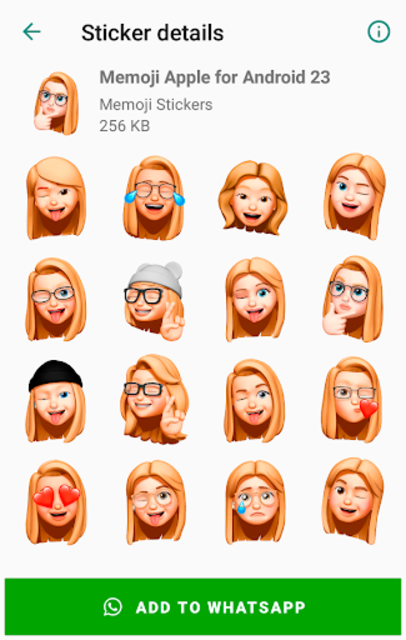 Memoji Apple Stickers for Android WhatsApp screenshot 6