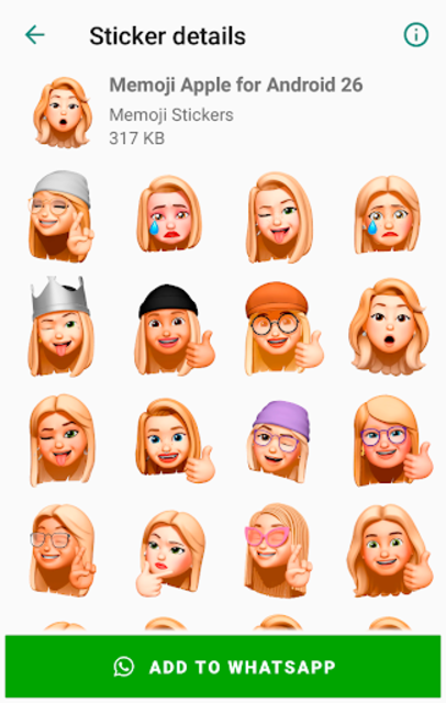 Memoji Apple Stickers for Android WhatsApp screenshot 8